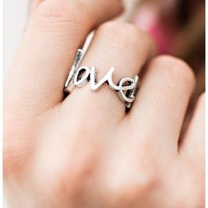 Young Love Silver Ring Vintage Paparazzi